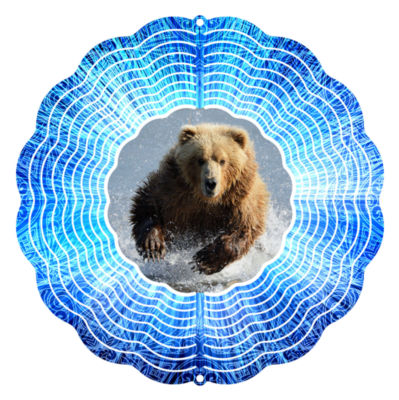 """Wind Spinner Yard Art Grizzly 10"""" Wind Spinner"""