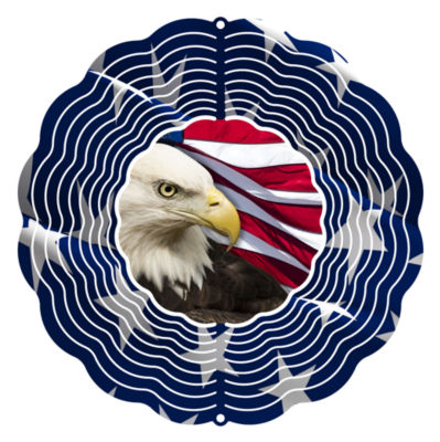 Yard Art Patriotic Wind Spinner