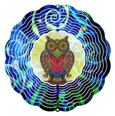 "Wind Spinner Yard Decor Wise Mr Owl 10"" Wind Spinner"""