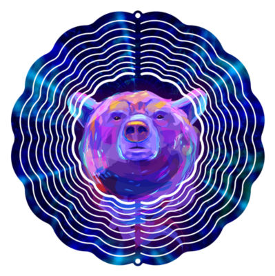 "Yard Art Indigo Bear 6"" Wind Spinner"