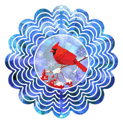 "Yard Decor Winter Red 6"" Wind Spinner"