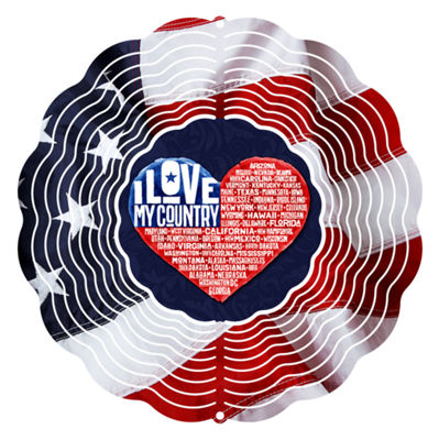 "Yard Art Love My Country 10"" Wind Spinner"