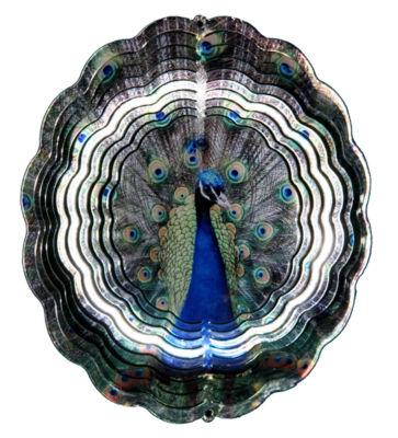 True Image Medium Peacock Windspinner
