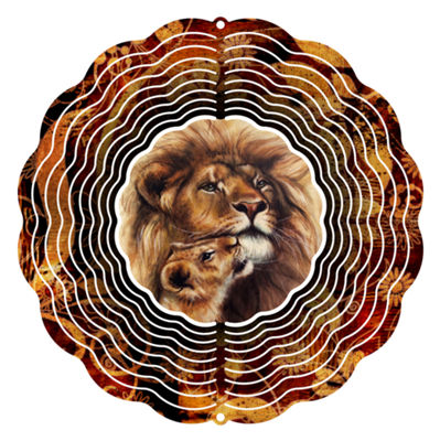 "Wind Spinner Yard Art Prideful Lion 10"" Wind Spinner"