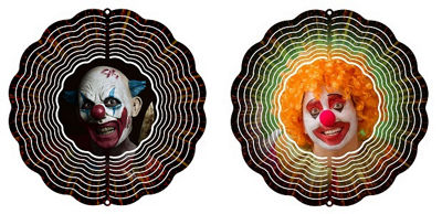 "Wind Spinner Yard Decor Scary Clown 10"" Wind Spinner"""
