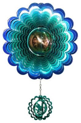 Medium Hummingbird Gazing Ball Blue/Green