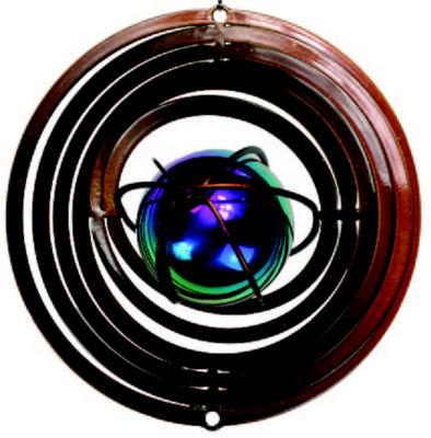 Wind Spinner Yard Art Atom Copper Gazing Ball