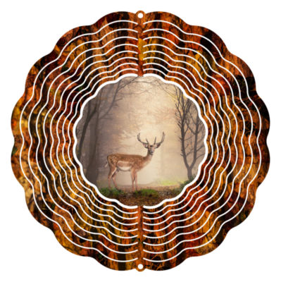 """Yard Decor Stag Woods 10"""" Wind Spinner"""