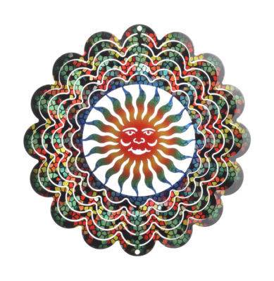Small Stained Glass Sun Windspinner