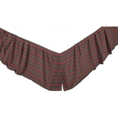 VHC Brands Kilton Red Bed Skirt