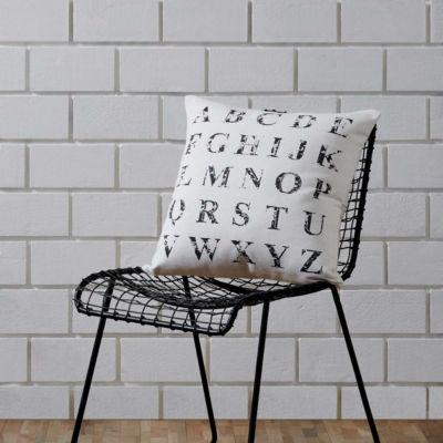 VHC Brands Alphabet Creme 18 x 18 Pillow