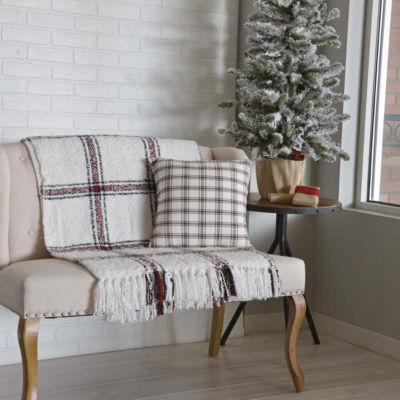 VHC Brands Amory 16 x 16 Plaid Pillow