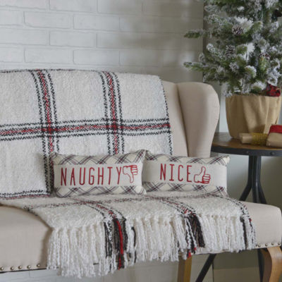VHC Brands Amory Naughty and Nice 7 x 13 Pillow Set