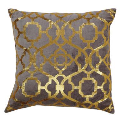 VHC Brands Gold Foil 18 x 18 Pillow