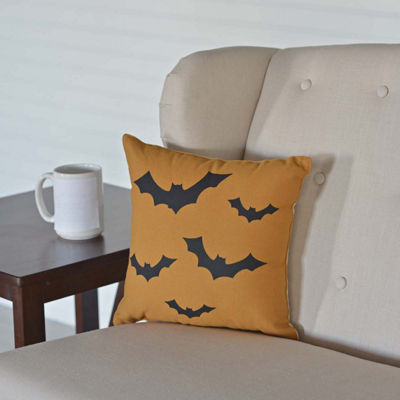 VHC Brands Halloween Bats 12 x 12 Pillow