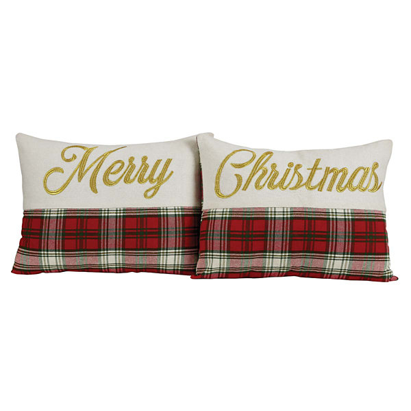 VHC Brands HO HO Holiday 14 x 18 Pillow Set