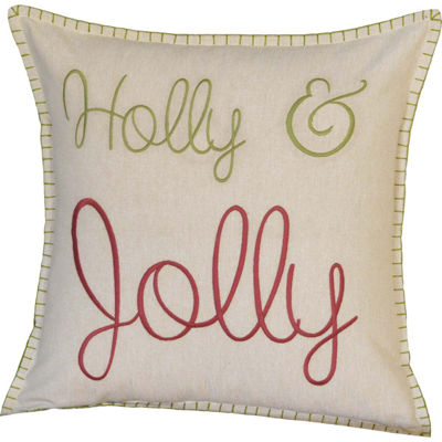 VHC Brands Holly & Jolly 18 x 18 Pillow