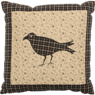 VHC Brands Kettle Grove Crow Pillow