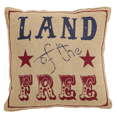 VHC Brands Land Of The Free 12 x 12 Pillow Set
