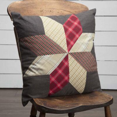 VHC Brands Liberty Stars 18 x 18 Patchwork Pillow