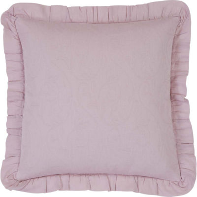VHC Brands Lilac 18 x 18 Ruffled Down Pillow