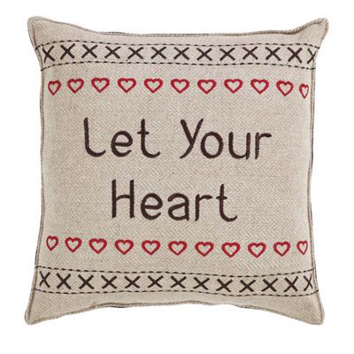VHC Brands Merry Little Christmas Let Your Heart 12 x 12 Pillow Set