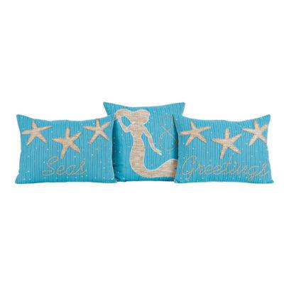VHC Brands Nerine Seas & Greetings Pillow Set