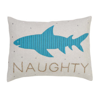 VHC Brands Nerine Shark 14 x 18 Pillow