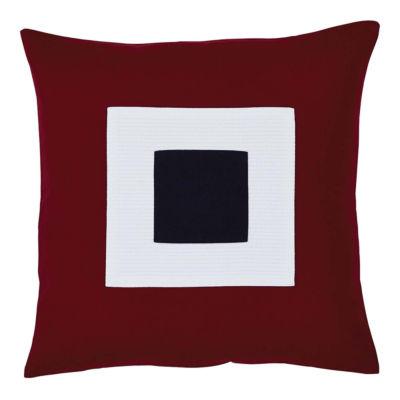 VHC Brands Patriotic Block Applique 18 x 18 Pillow
