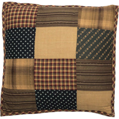 VHC Brands Patriotic Patch 16 x 16 Quilted Pillow