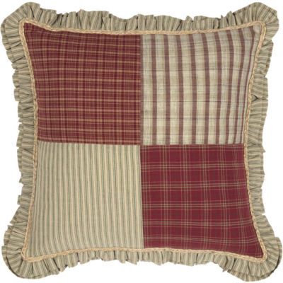 VHC Brands Prairie Winds 18 x 18 Patchwork Pillow