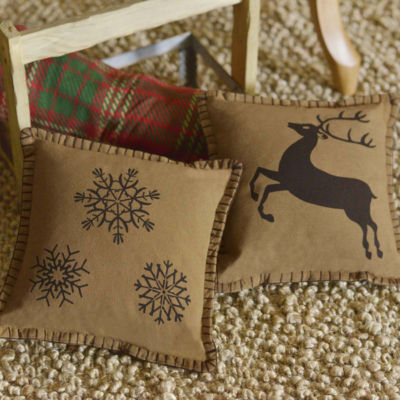 VHC Brands Prancer 10 x 10 Pillow Set