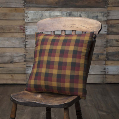Ashton & Willow Settlement Primitive Check 16 x 16 Pillow