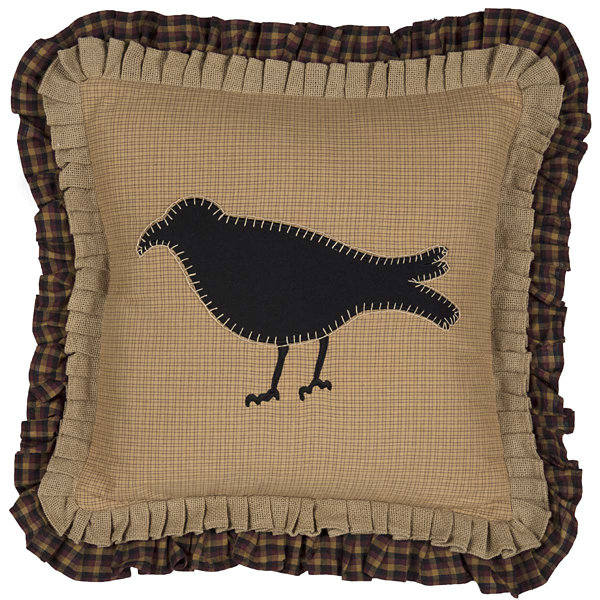 Ashton & Willow Settlement Primitive Crow 18 x 18 Pillow
