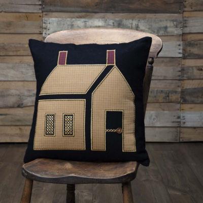 Ashton & Willow Settlement Primitive House 18 x 18 Pillow
