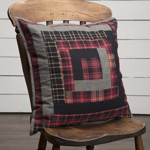 VHC Brands Cumberland 18 x 18 Patchwork Pillow