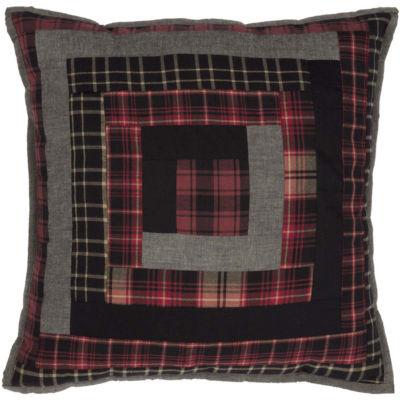 VHC Brands Cumberland 18 x 18 Patchwork Pillow