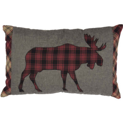 VHC Brands Cumberland Applique Moose 14 x 22 Pillow