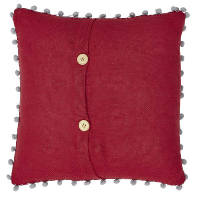 VHC Brands Red Burlap Let It Snow 16 x 16 Pillow
