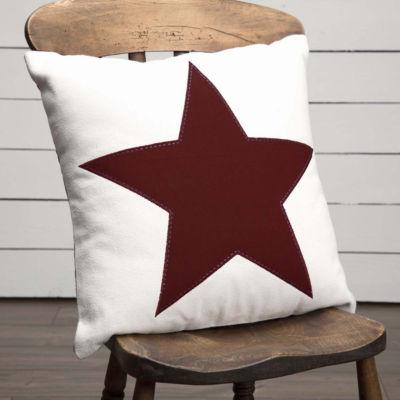 VHC Brands Red Star Applique 18 x 18 Pillow