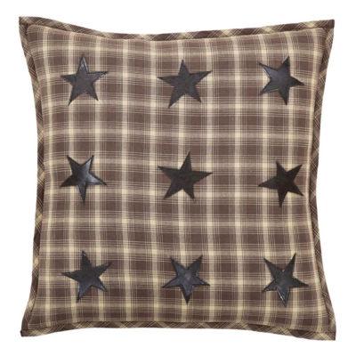 VHC Brands Dawson Star Applique 18 x 18 Down Pillow