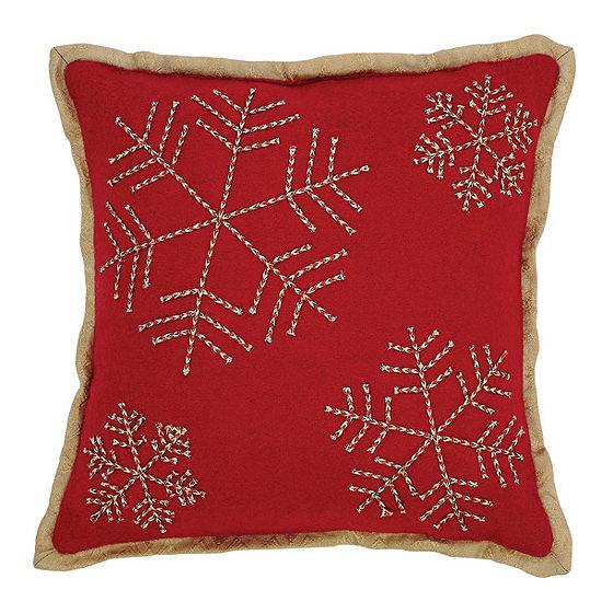 Ashton And Willow Revelry Snowflake 12x12 Throw Pillow