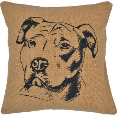 VHC Brands Dog Pillow 16 x 16 Pillow
