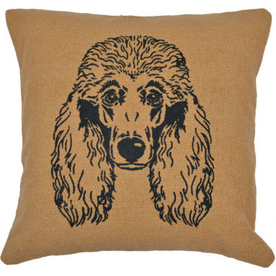 Ashton And Willow Poodle 16x16 Throw Pillow