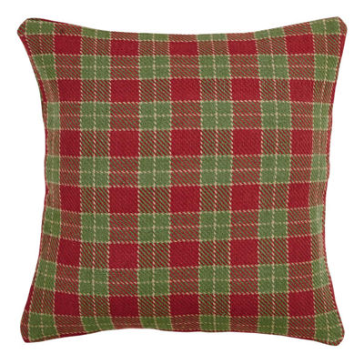 VHC Brands Robert 18 x 18 Down Plaid Pillow