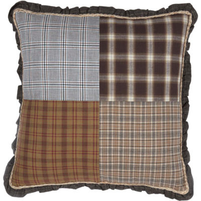 VHC Brands Rory 18 x 18 Patchwork Pillow