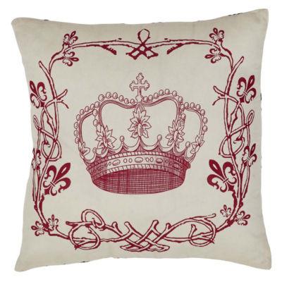 VHC Brands Elysee Stencil Crown 16 x 16 Pillow