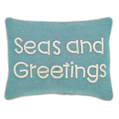 VHC Brands Sanbourne Seas and Greetings 14 x 18 Pillow