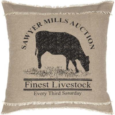 VHC Brands Sawyer Mill Cow 18 x 18 Pillow