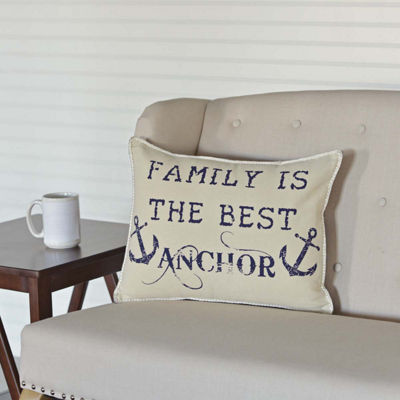 VHC Brands Family Anchor 14 x 18 Pillow